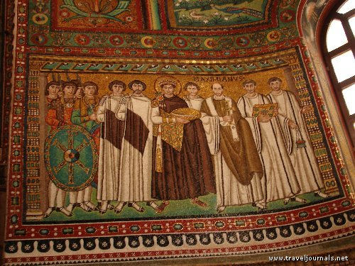 Justinian And His Attendants. attendants and he shallthese mosaics Depicting